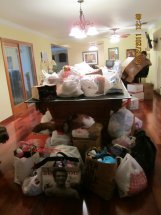 Brandon James collected aid